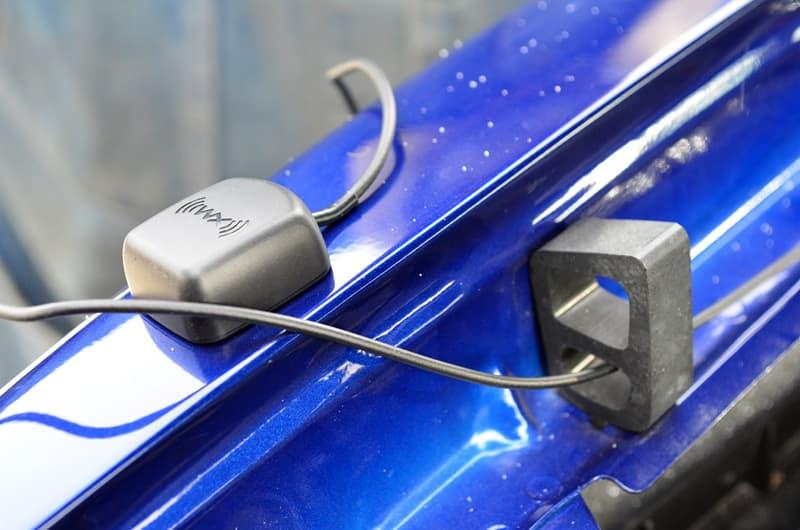 Sirius XM Magnetic adaptor used because cabover blocks radio signal