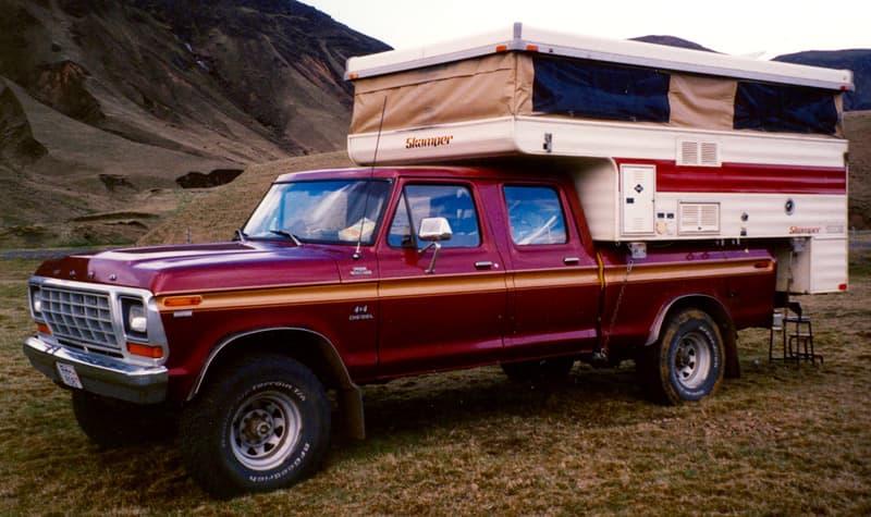 Skamper Camper With Ford Truck Iceland
