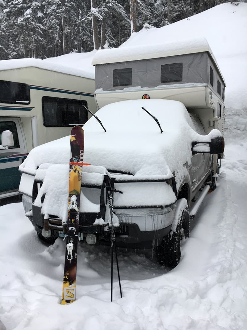 Ski gear needed for camping weekend