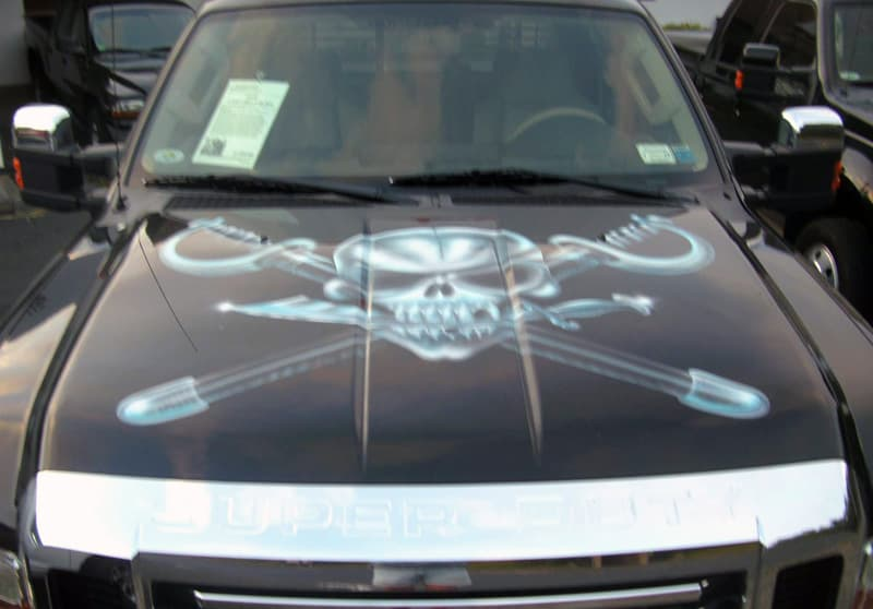 Skull Cross Swords Truck