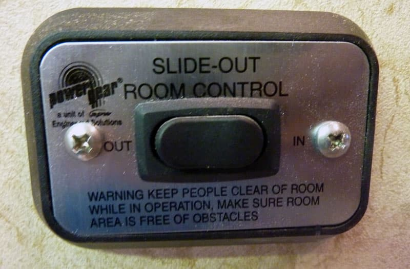 Slide Out Room Control Button Camper