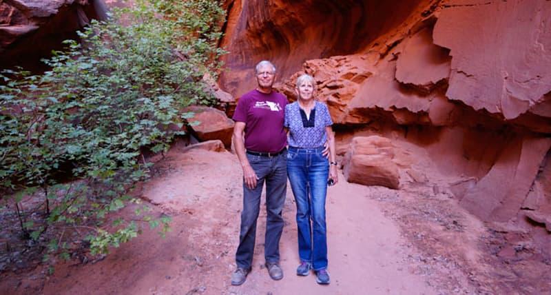 Slot Canyon along the Burr Trail