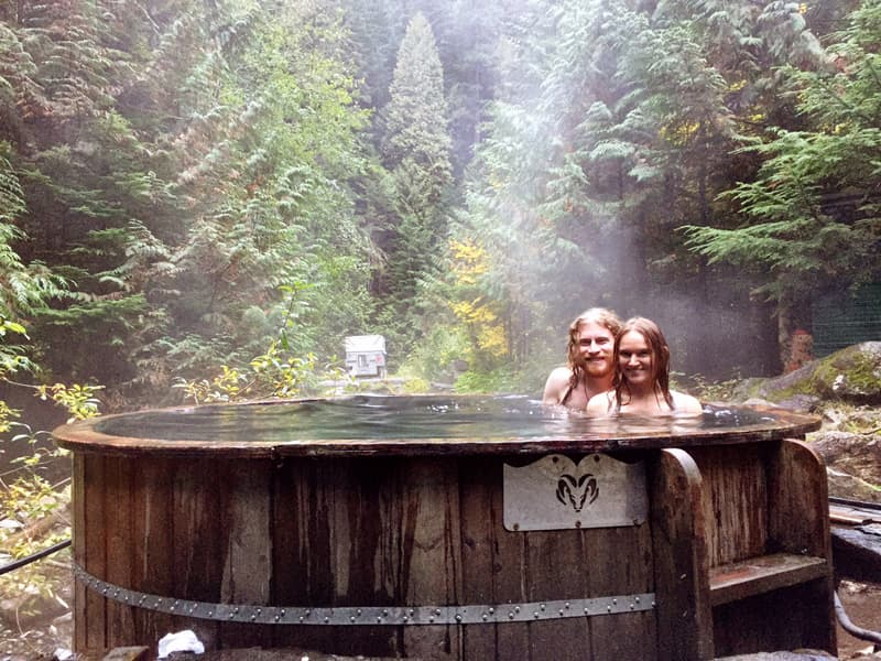 Soaking In A Hot Spring Is How We Bathe On The Road