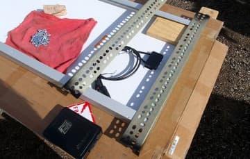 Installing Slotted bracket to bottom of solar panel
