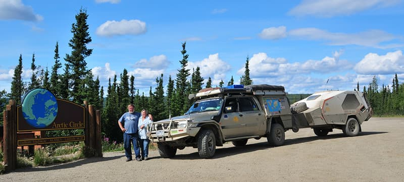 Roof Top Tent and trailer Arctic Circle