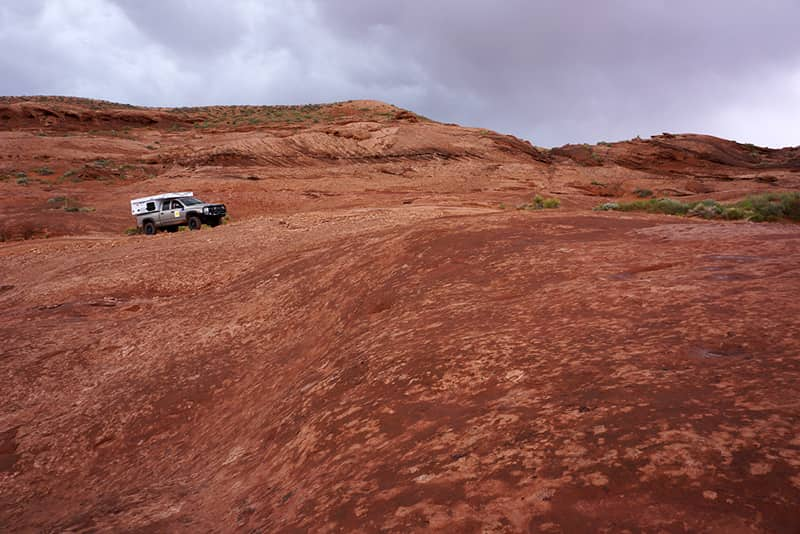 Exploring southern Utah with a Four Wheel Camper