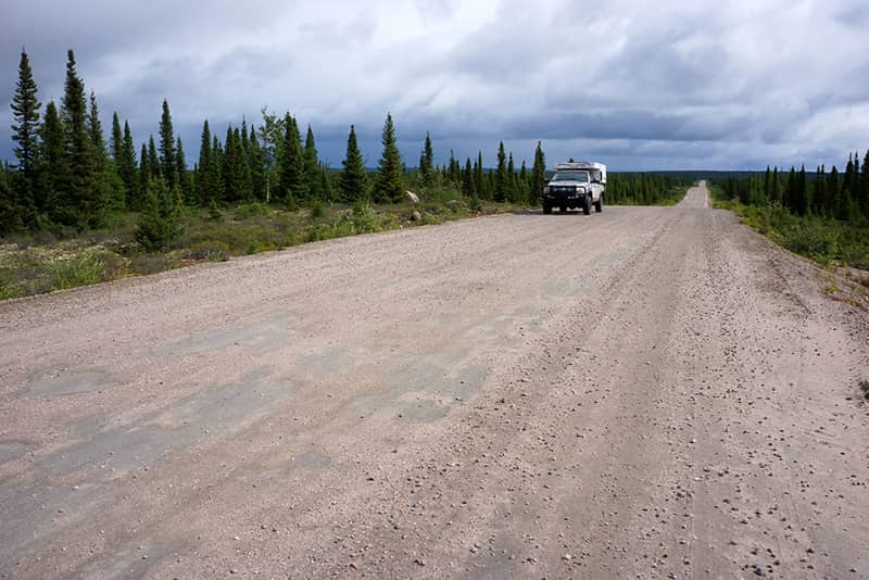 Only road north from Blanc-Sablon, Labrador
