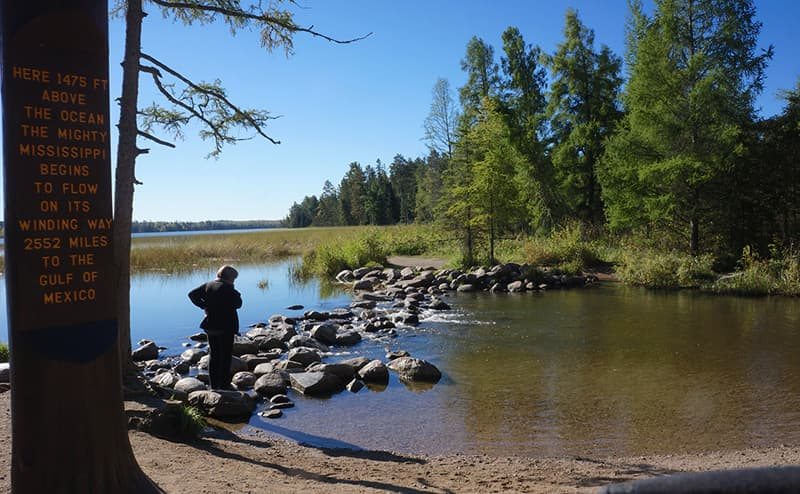 Minnesota, headwaters of the Mississippi, Lake Itasca State Park