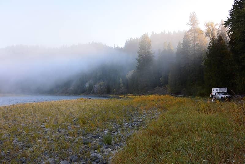 Montana camp boondocking