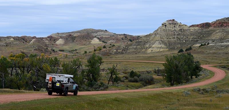 Badlands in North Dakota