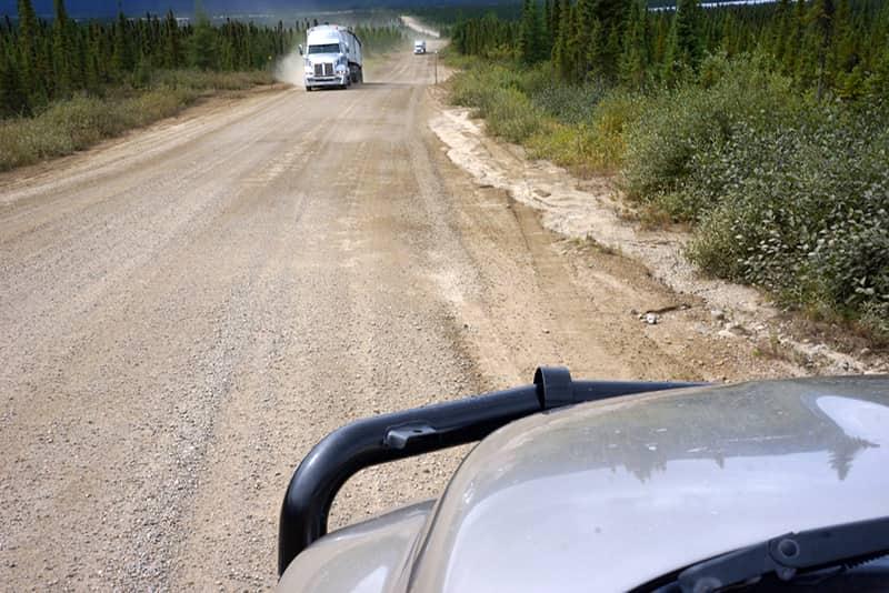 North Quebec dirt road