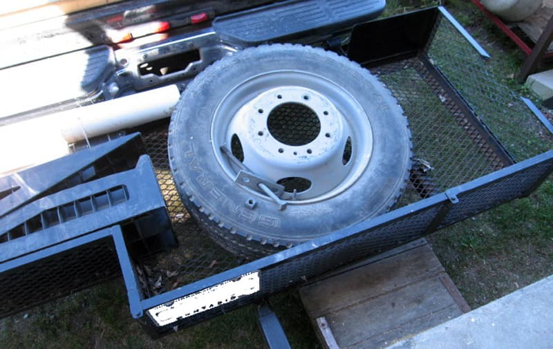 Spare tire and other storage rack