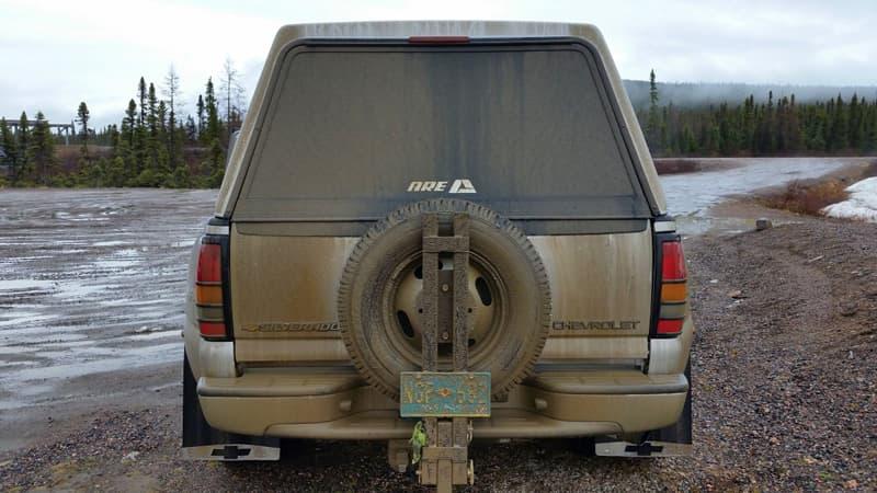 Spare tire ARE truck cap