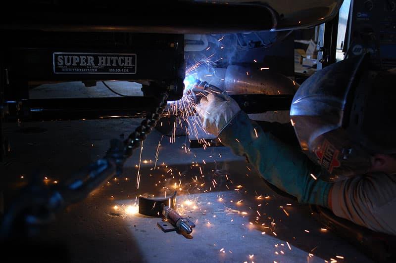 Stable Lift Welding Under Truck