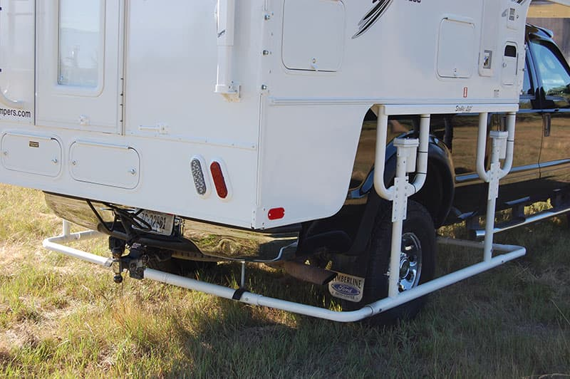 Stable Lift jack system installed on truck camper