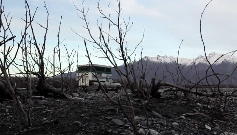 Starcraft camper in Alaska camping
