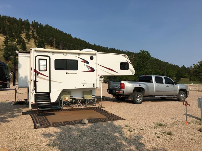 Sturgis, South Dakota camper off truck