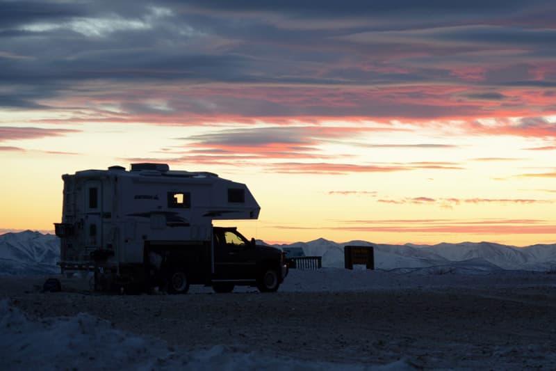 Sunset at Ogilvie Ridge, Yukon