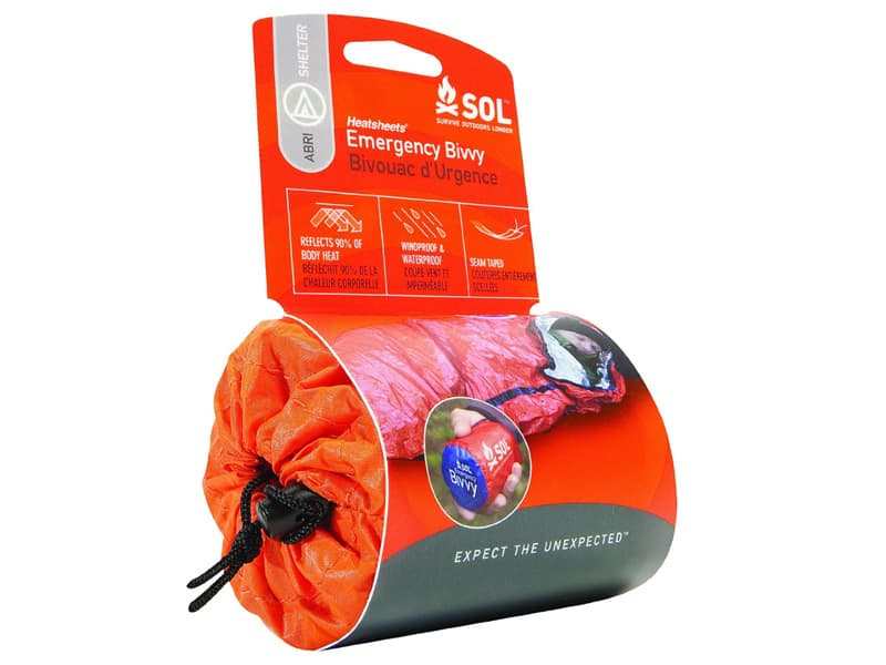 Survival outdoors longer emergency bivvy