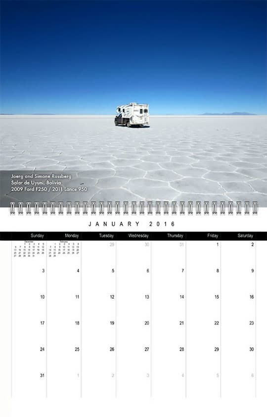 2016 Calendar Ready Jan Rossberg