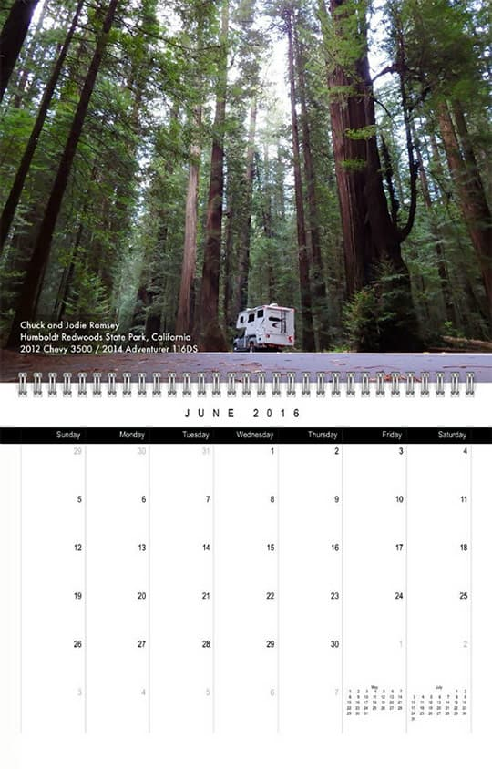 2016 Calendar Ready June Ramsey