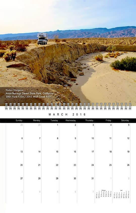2016 Calendar Ready March Sturgeon