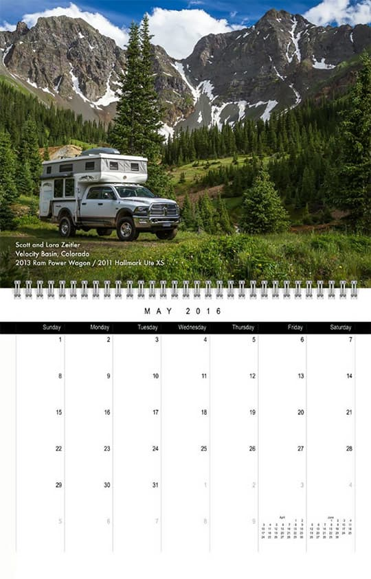 2016 Calendar Ready May Zeitler