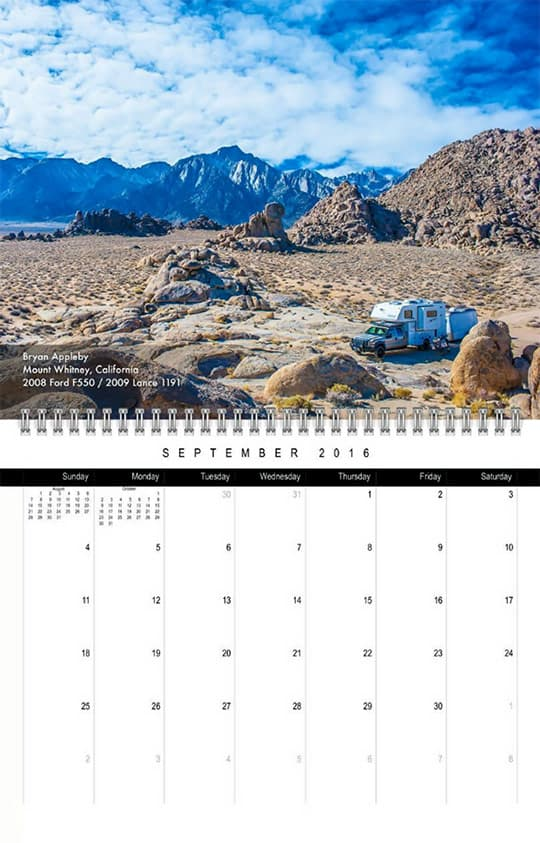 2016 Calendar Ready September Appleby