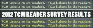 Reader survey Results 2012