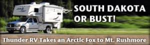Arctic Fox 1160 Camper to South Dakota