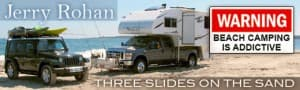 Beach Camping With Slide-Out Camper