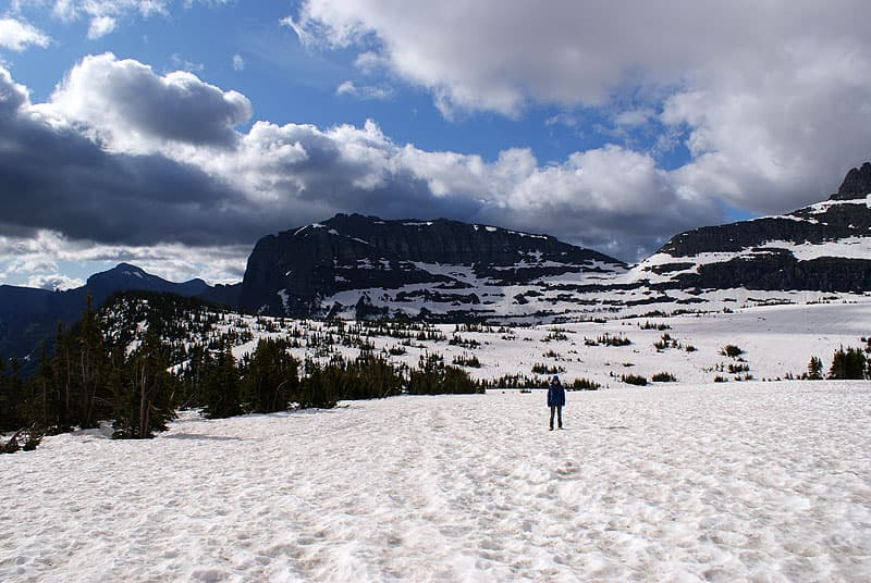 Going to the Sun Road snow