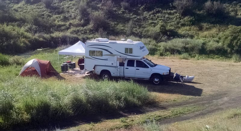 Tenting and Truck Camping