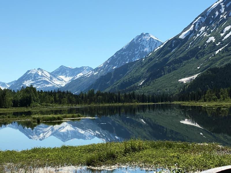 Tern Lake at the junction of Sterling and Steward Highways, Kenai Peninsula, Alaska
