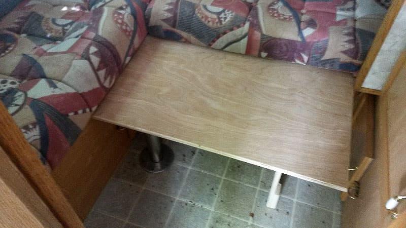 Test fitting of dinette bed base