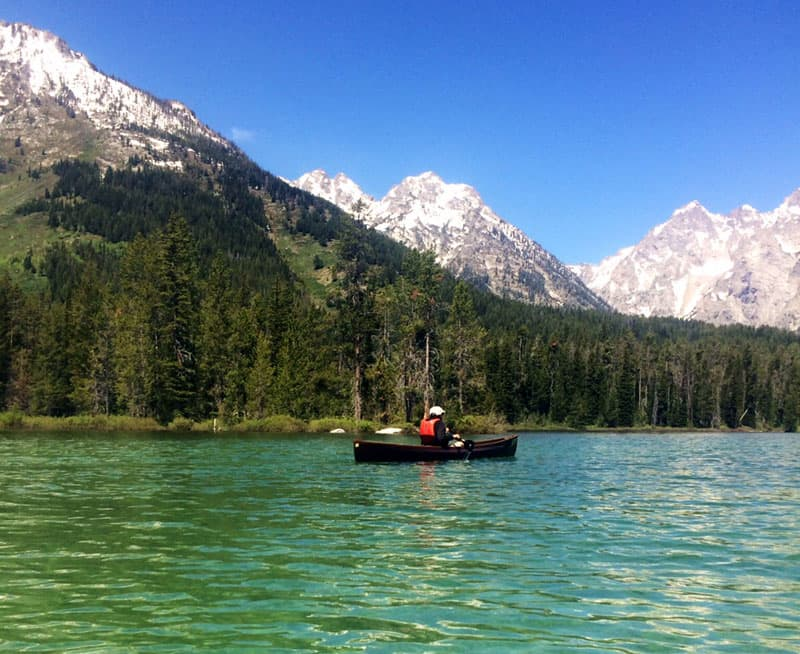 Canoe in Teton National Park