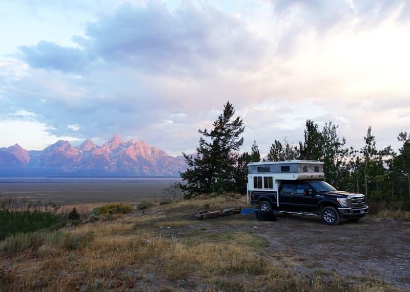 Tetons boondock camping