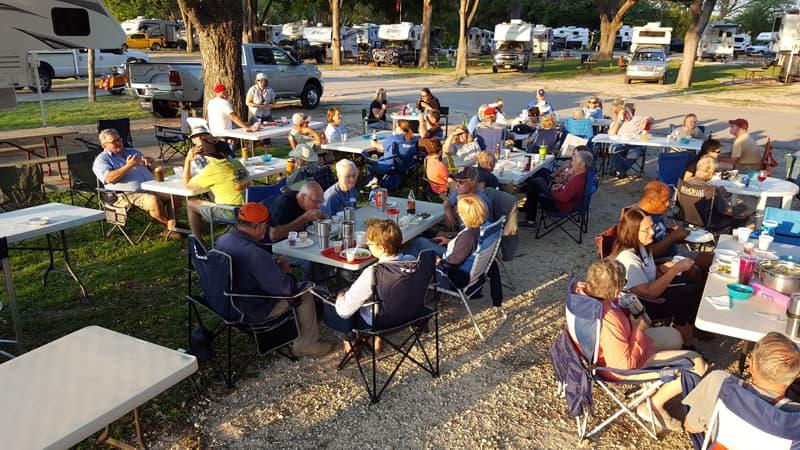 Texas rally dinner