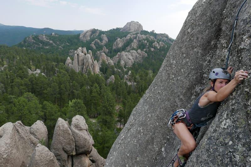 Rock Climbing in the Black Hills, South Dakota