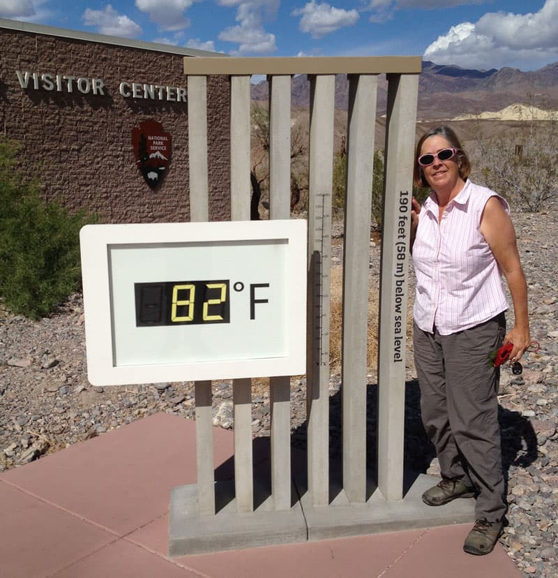 Thermometer Visitor Center Death Valley