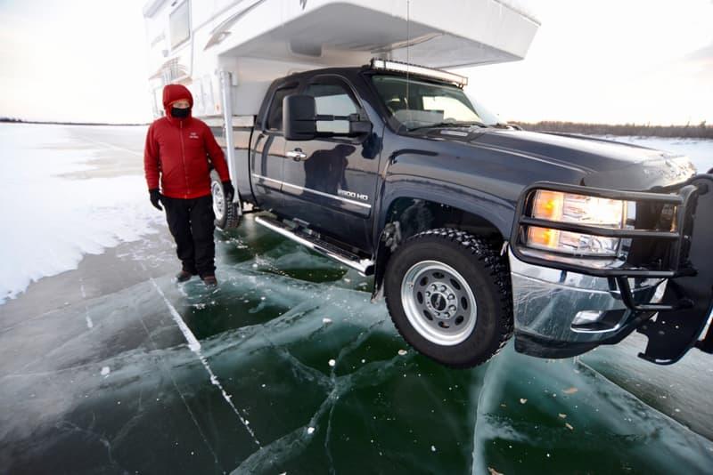Thick Ice on Mackenzie River Northwest Territories