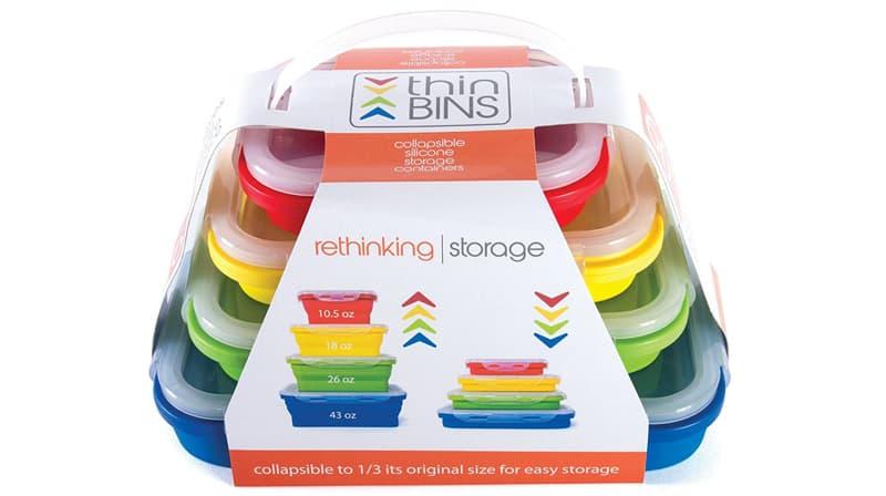 Thin Bins Collapsible Storage