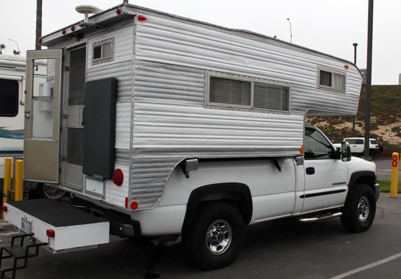 1972 Tiltin Hiltin truck camper set up