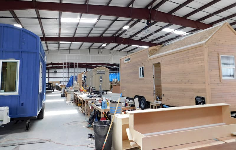 Tiny Idahomes production line