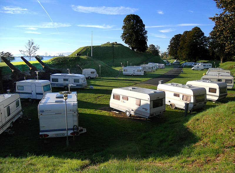Charlottelund Fort camping