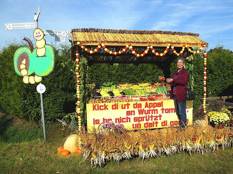 autumn roadside stand in Germany