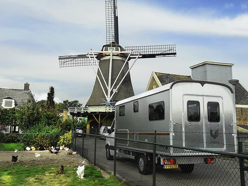 windmill on Fietsroute Noord Veluwe in Elburg, Netherlands