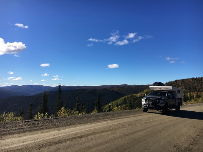 Top of the World Highway from Chicken to Dawson, Yukon
