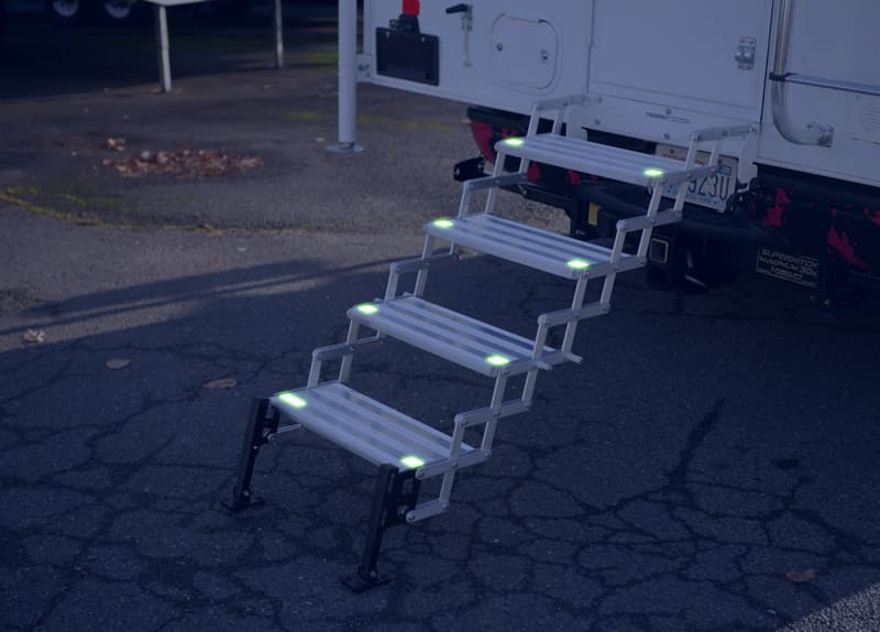 Stow N' Go with the GlowSteps deployed