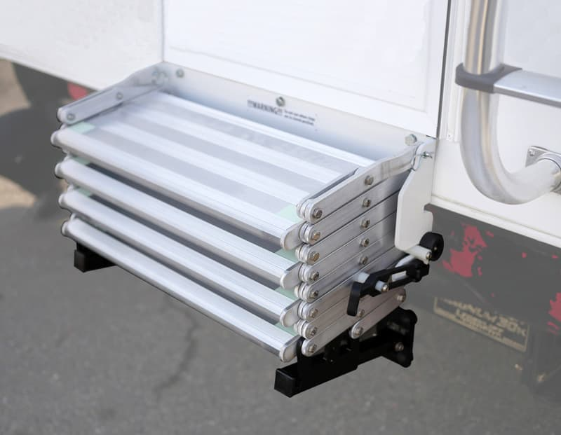 Torklift Stow N' Go on a truck camper